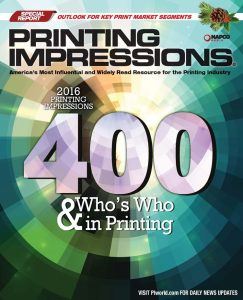 What do 23% of the The 2016 Printing Impressions 400 have in common?